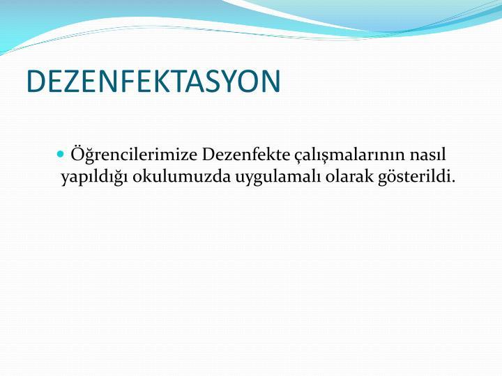 DEZENFEKTASYON