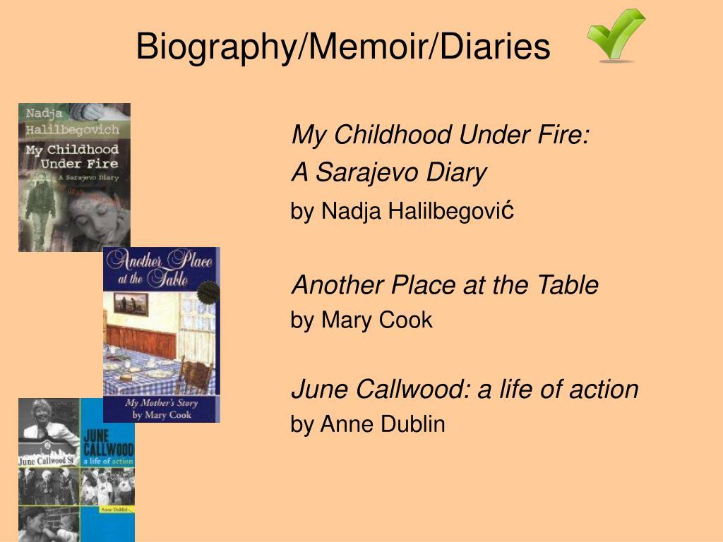 Biography/Memoir/Diaries