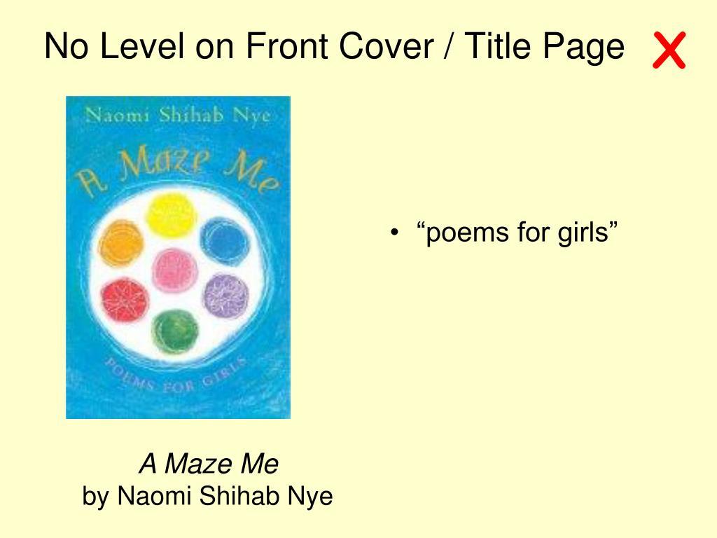 """poems for girls"""