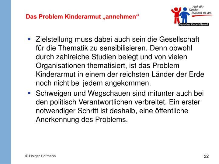 "Das Problem Kinderarmut ""annehmen"""