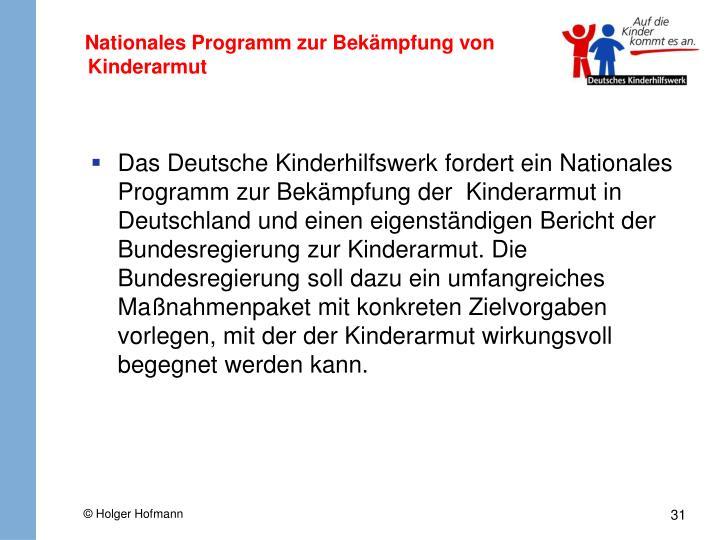 Nationales Programm zur Bekämpfung von Kinderarmut