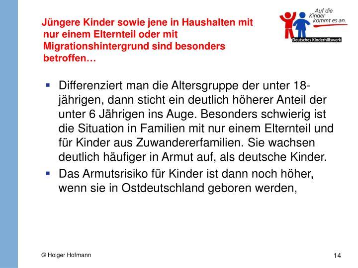 Jüngere Kinder sowie jene in Haushalten mit nur einem Elternteil oder mit Migrationshintergrund sind besonders betroffen…