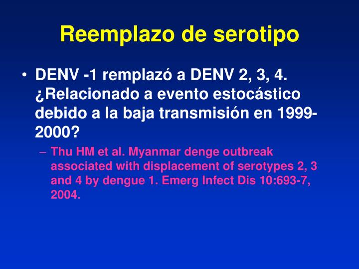 Reemplazo de serotipo