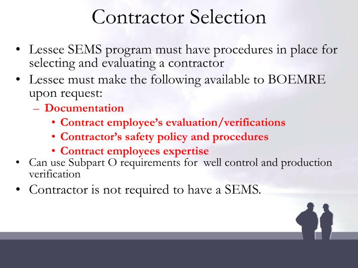 Contractor Selection