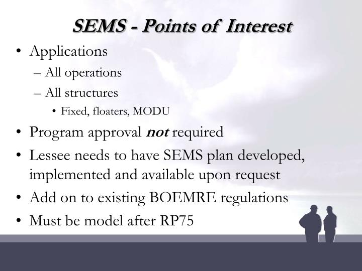 SEMS - Points of Interest