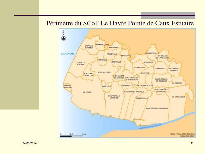 Périmètre du SCoT Le Havre Pointe de Caux Estuaire