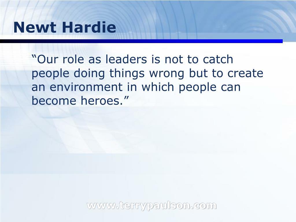Newt Hardie