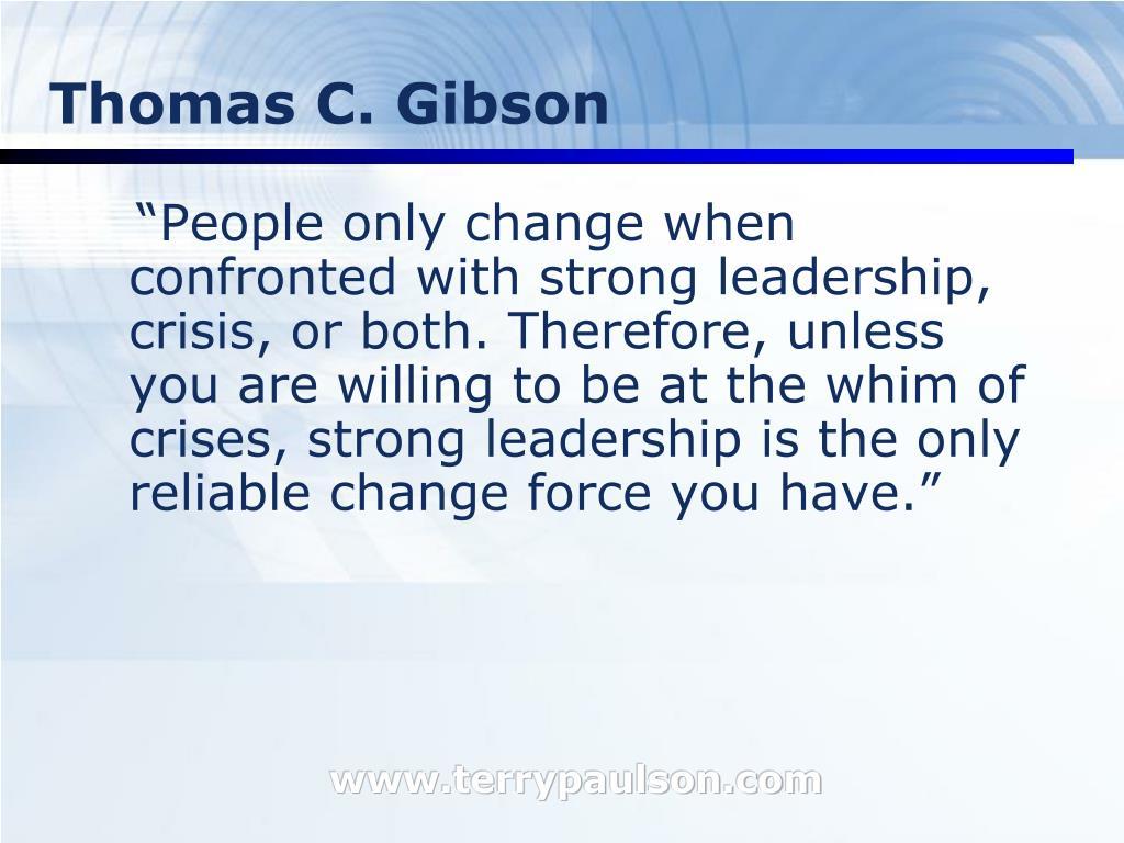 Thomas C. Gibson