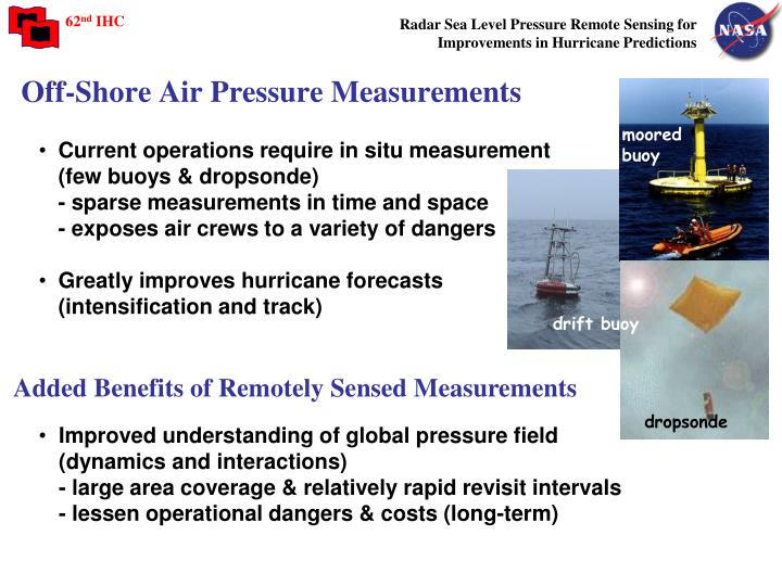 Off-Shore Air Pressure Measurements