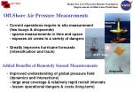 off shore air pressure measurements