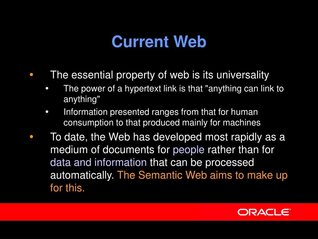 Current Web