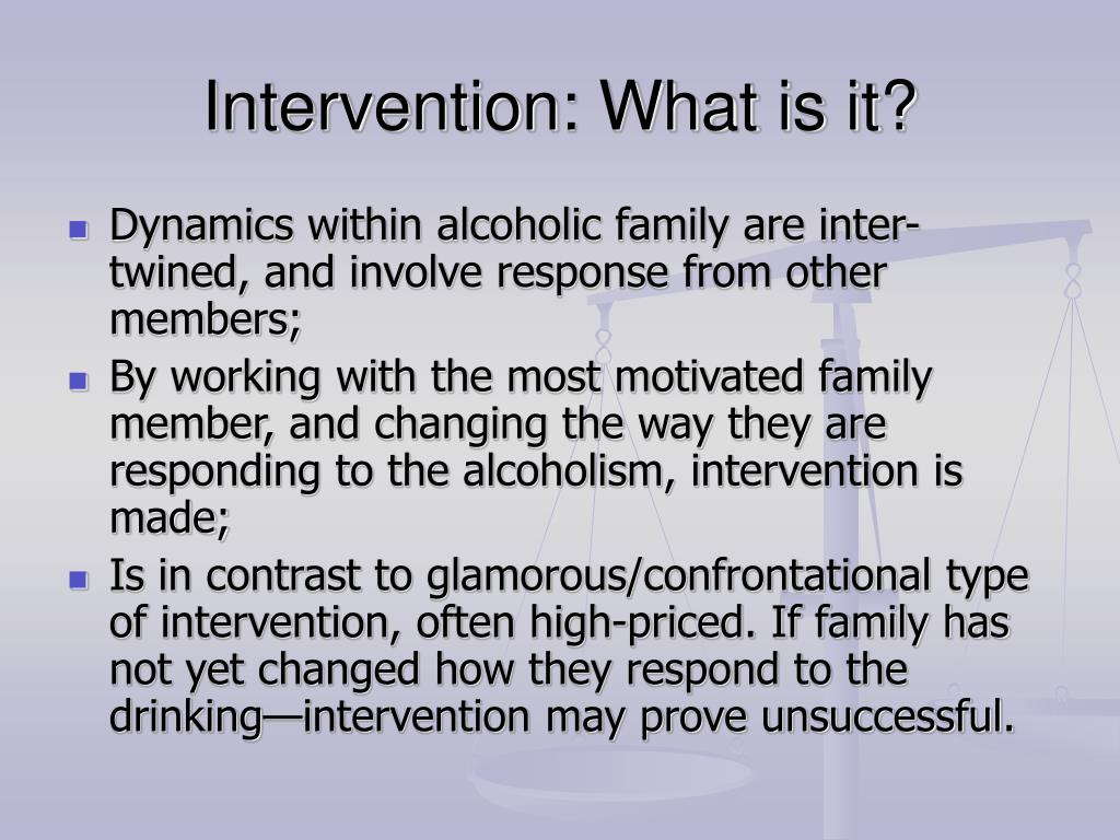 Intervention: What is it?