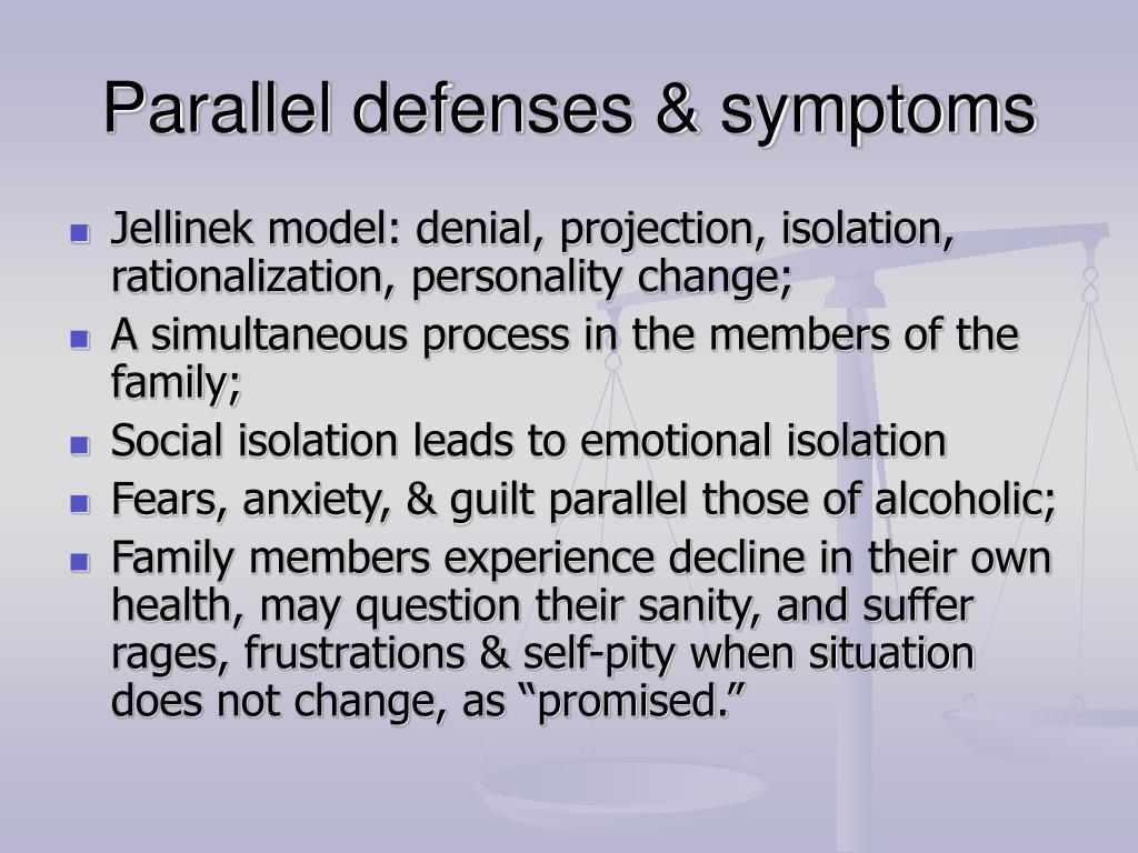 Parallel defenses & symptoms