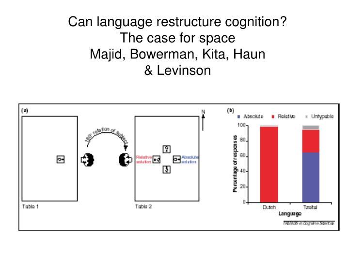 Can language restructure cognition?