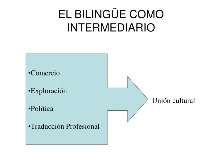 EL BILINGÜE COMO INTERMEDIARIO