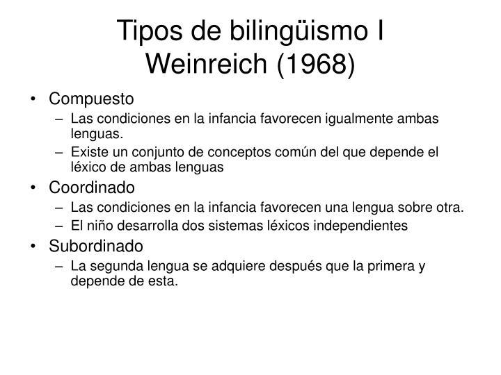 Tipos de bilingüismo I