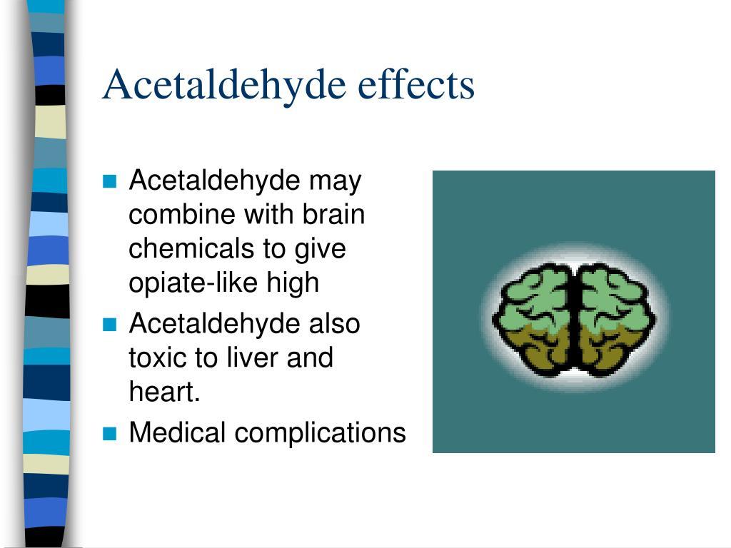 Acetaldehyde effects