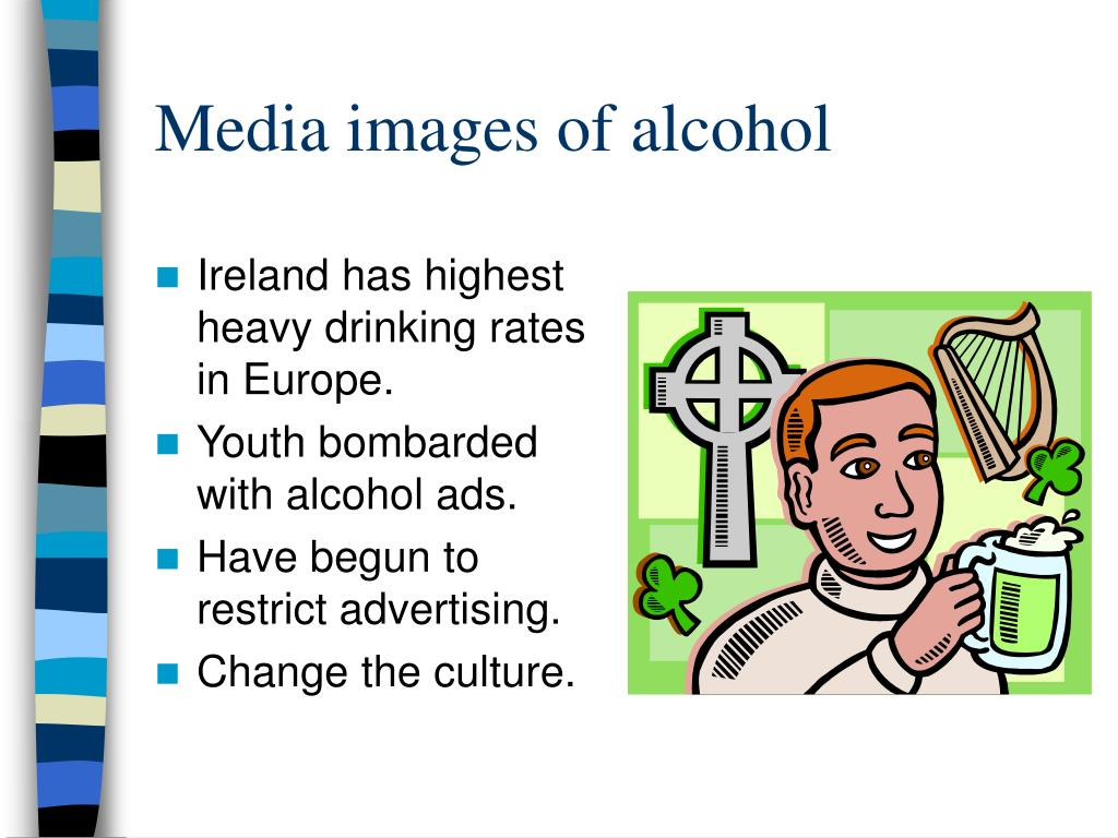 Media images of alcohol