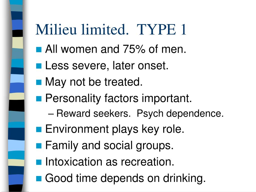 Milieu limited.  TYPE 1