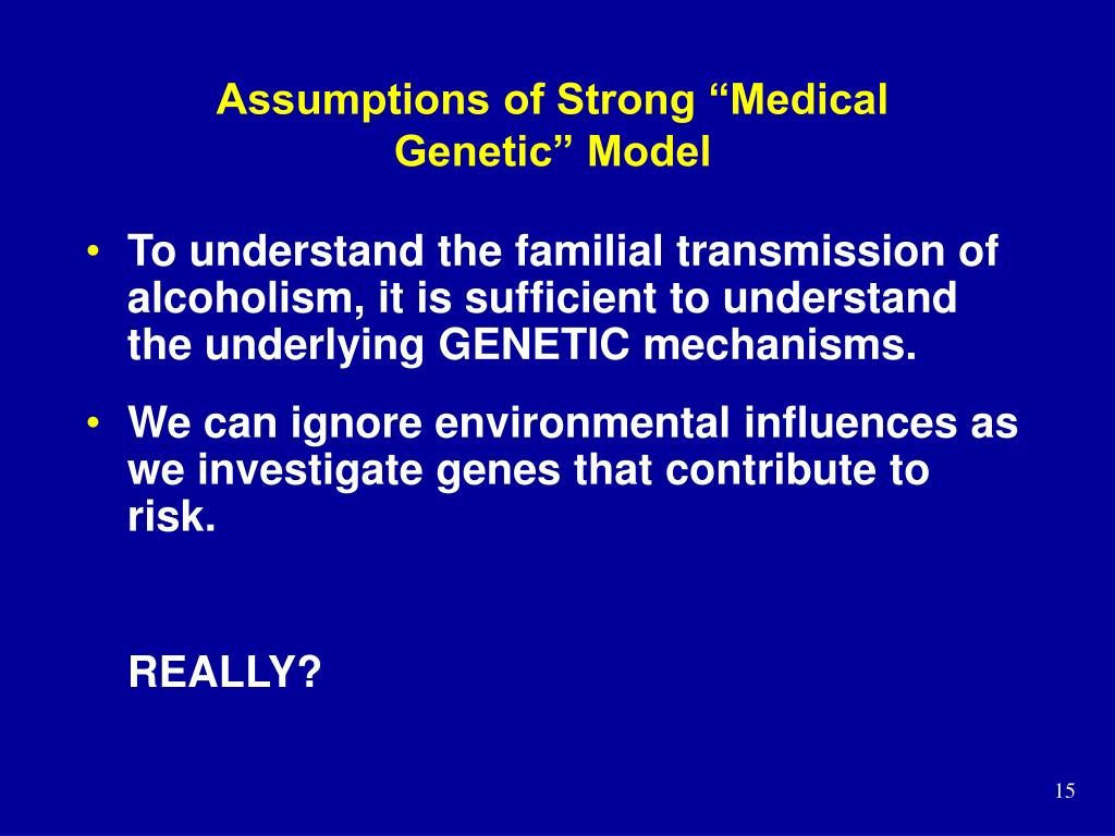 """Assumptions of Strong """"Medical Genetic"""" Model"""