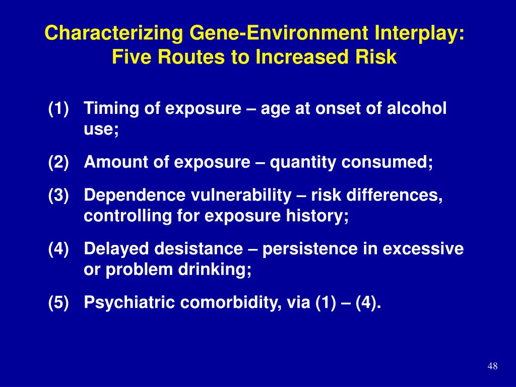 Characterizing Gene-Environment Interplay: Five Routes to Increased Risk
