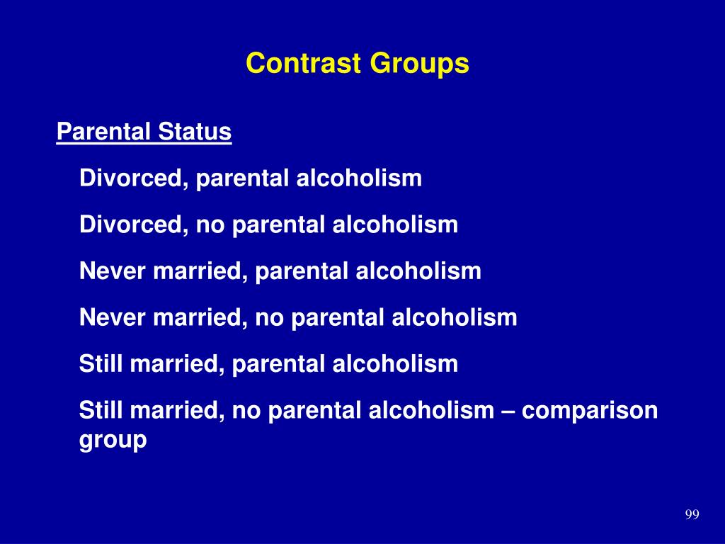 Contrast Groups