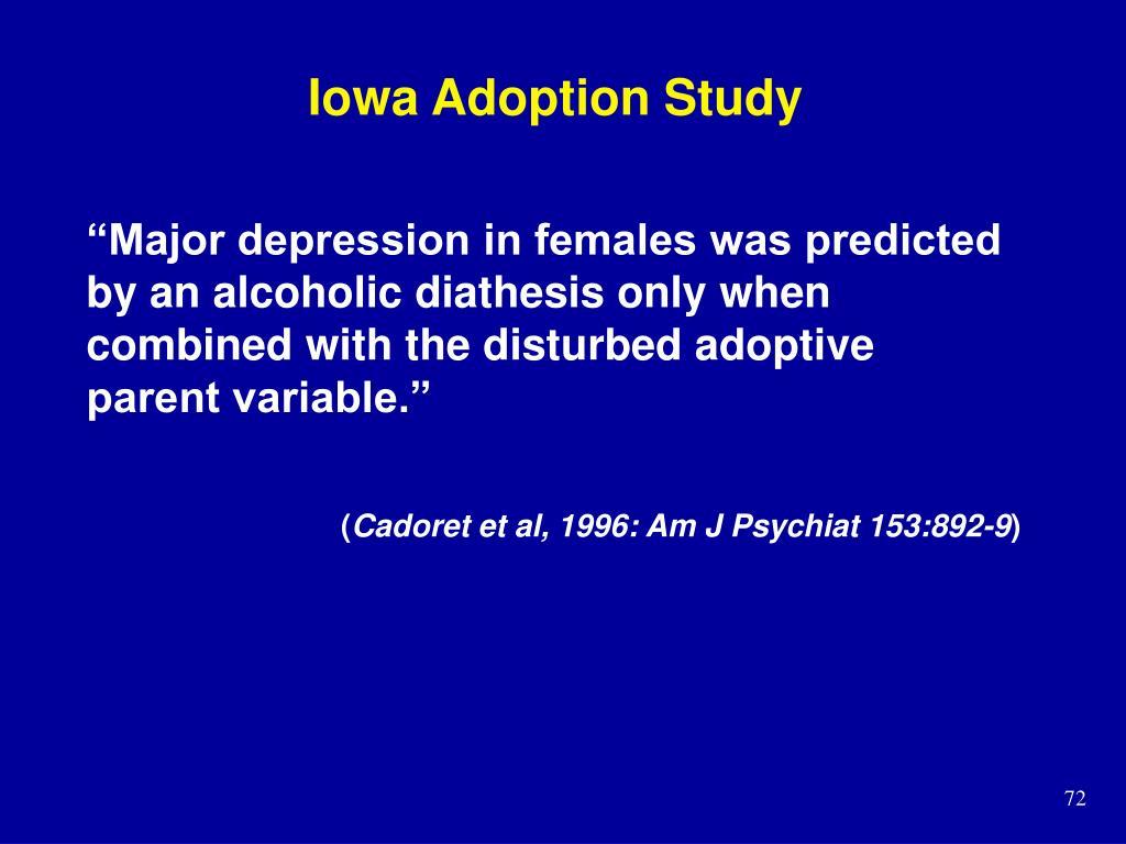 Iowa Adoption Study