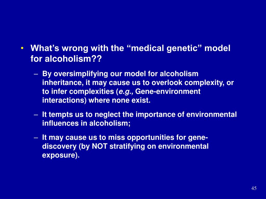 """What's wrong with the """"medical genetic"""" model for alcoholism??"""