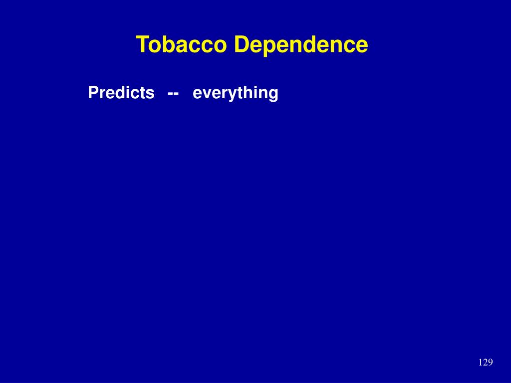Tobacco Dependence