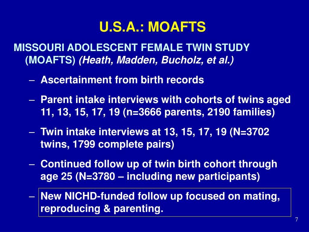 U.S.A.: MOAFTS