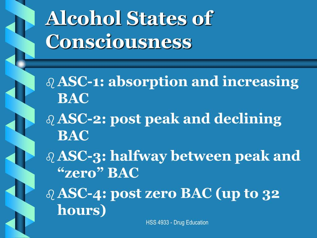 Alcohol States of Consciousness