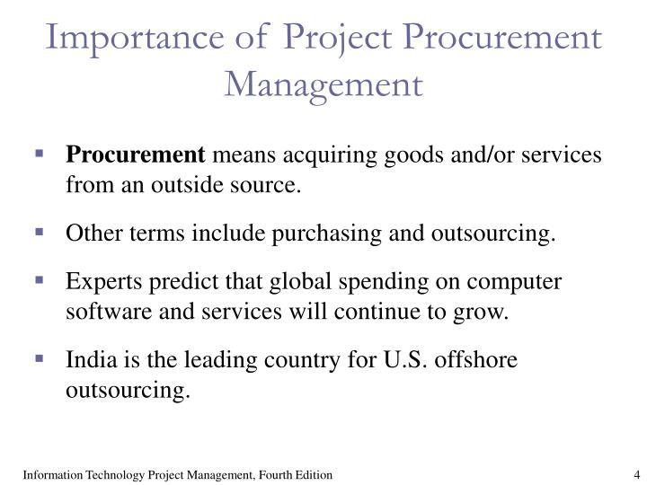 Importance of Project Procurement Management
