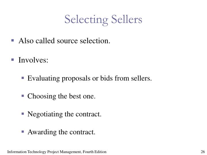 Selecting Sellers