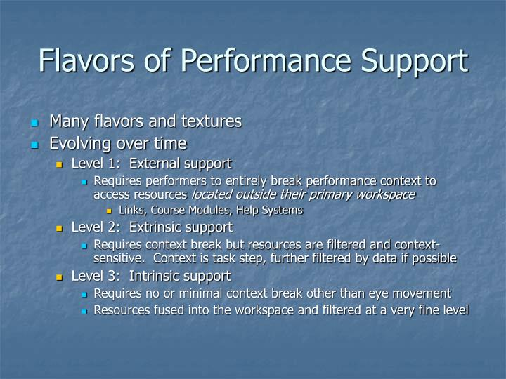 Flavors of Performance Support