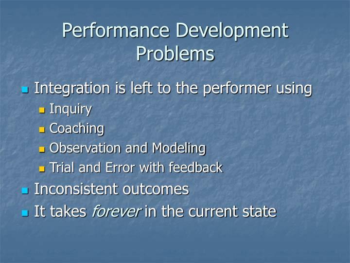 Performance Development Problems