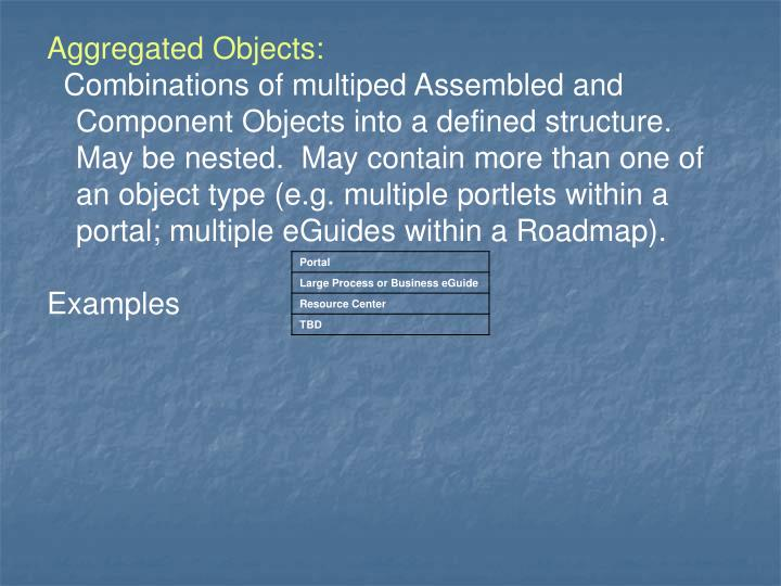 Aggregated Objects: