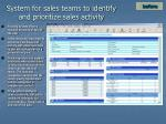 system for sales teams to identify and prioritize sales activity