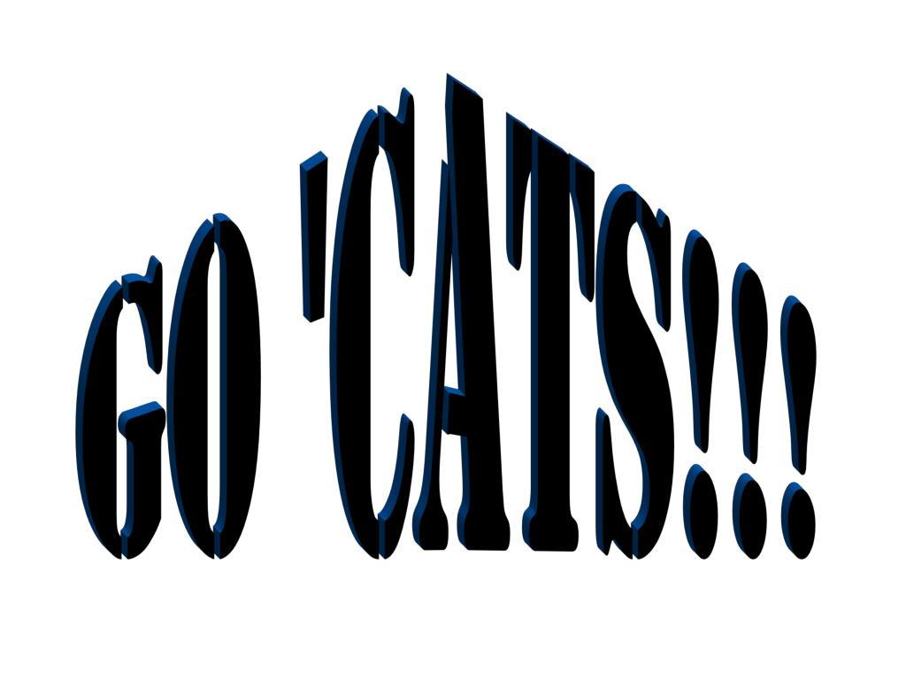 Go 'Cats!!!