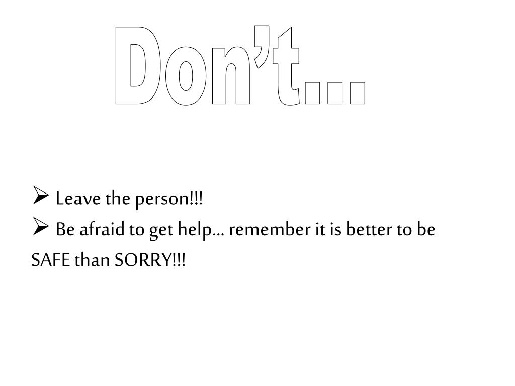 Don't…