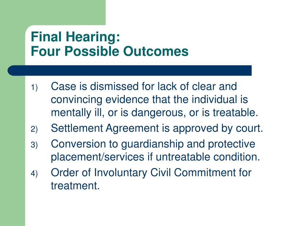 Final Hearing: