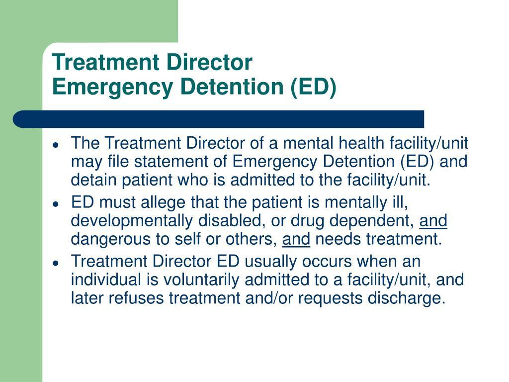Treatment Director