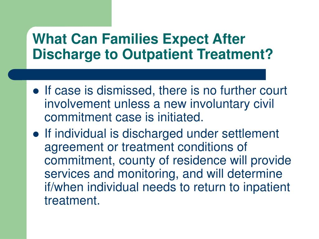 What Can Families Expect After Discharge to Outpatient Treatment?