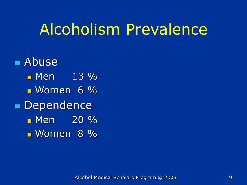 Alcoholism Prevalence