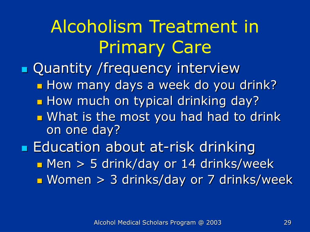 Alcoholism Treatment in Primary Care