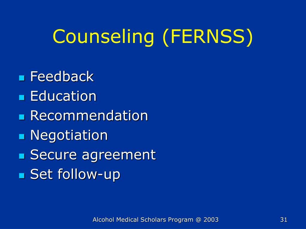 Counseling (FERNSS)