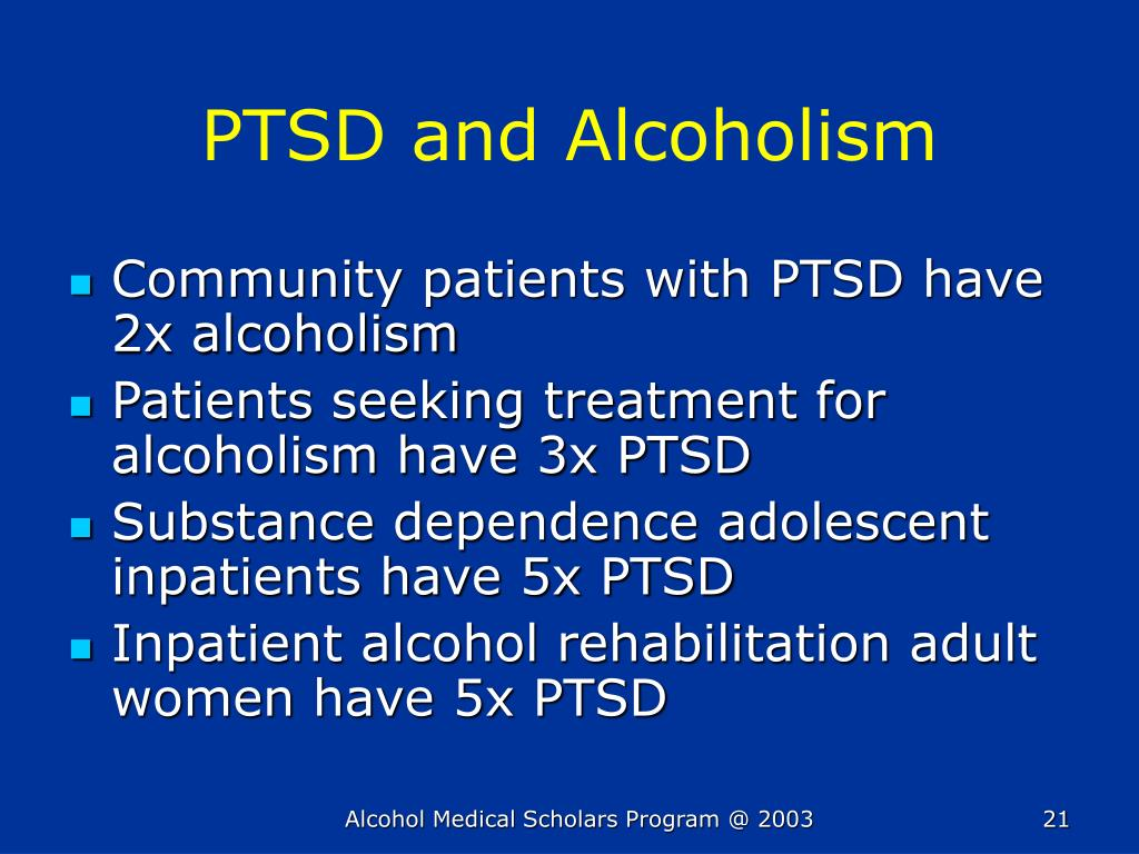 PTSD and Alcoholism