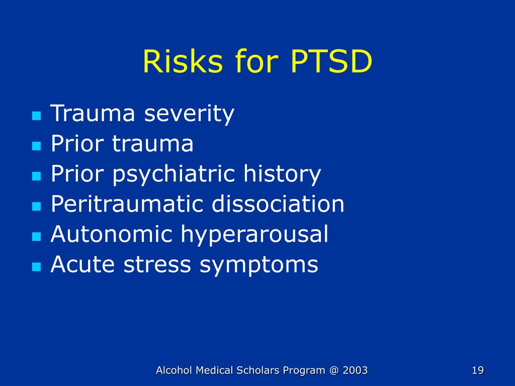 Risks for PTSD