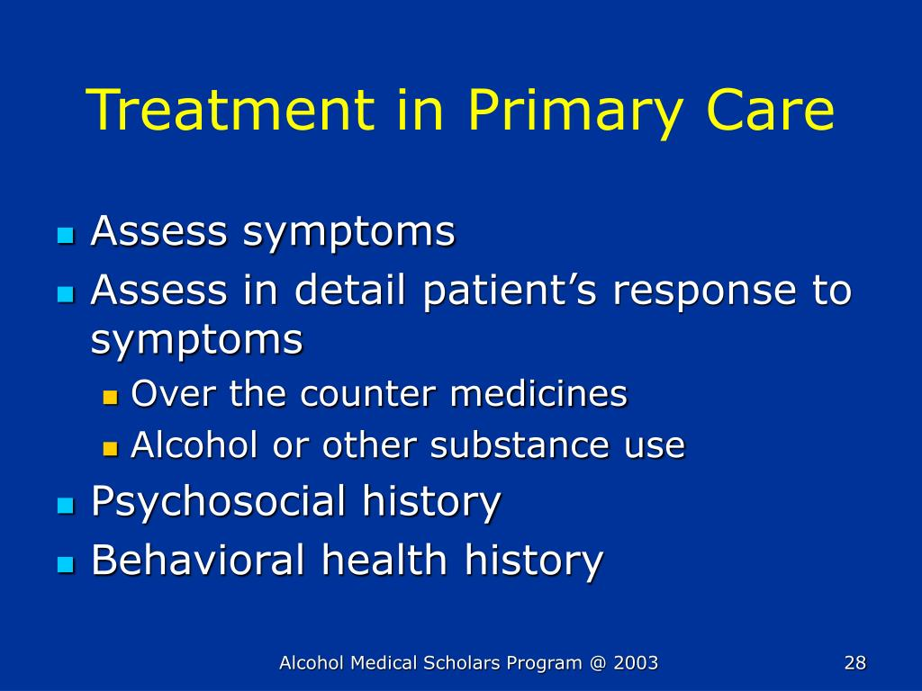 Treatment in Primary Care