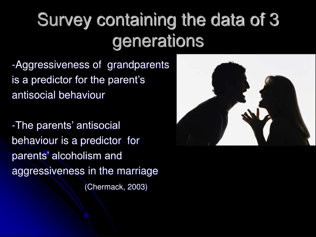 Survey containing the data of 3 generations