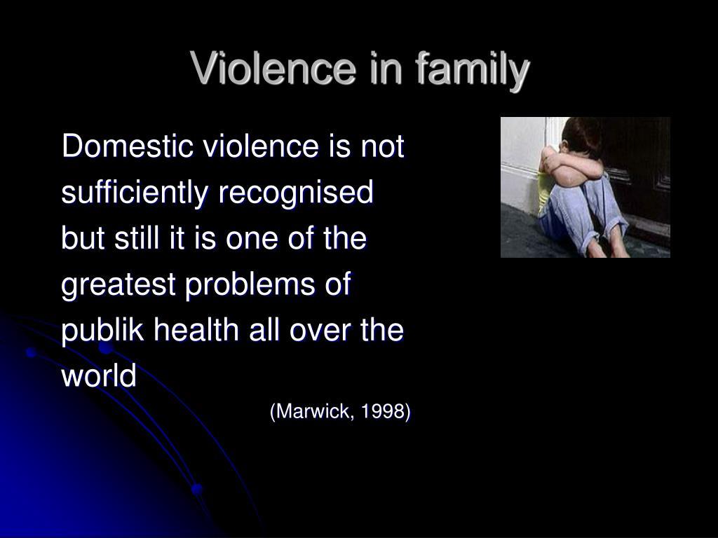 Violence in family